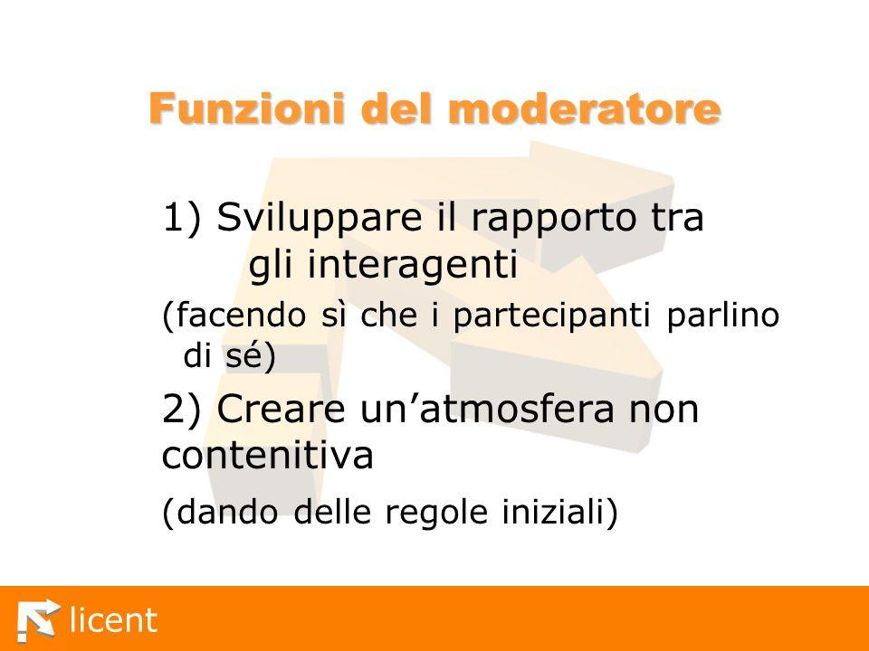 Funzioni del moderatore