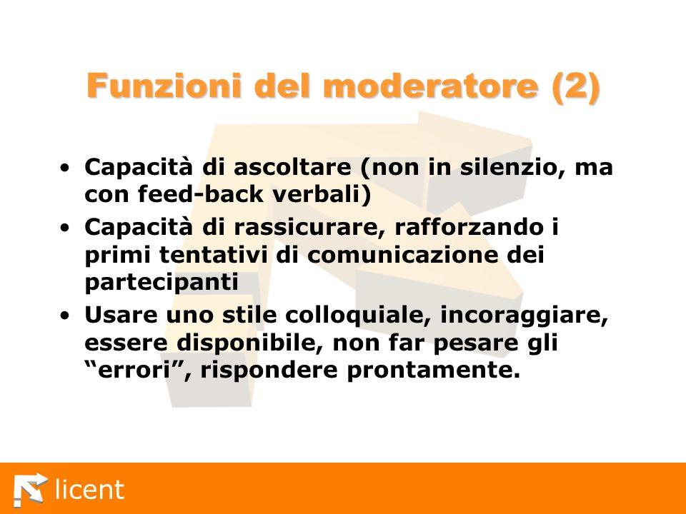 Funzioni del moderatore (2)