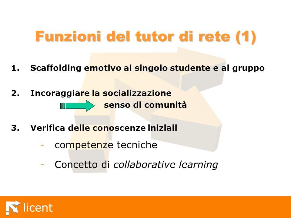 Funzioni del tutor di rete (1)