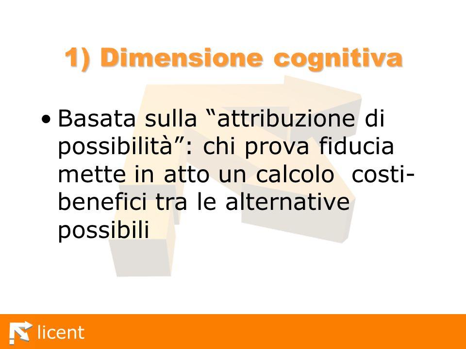 1) Dimensione cognitiva