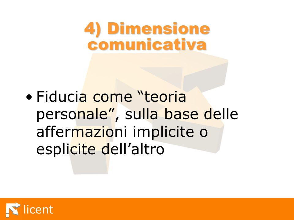 4) Dimensione comunicativa