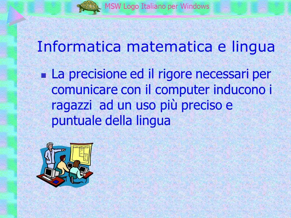 Informatica matematica e lingua