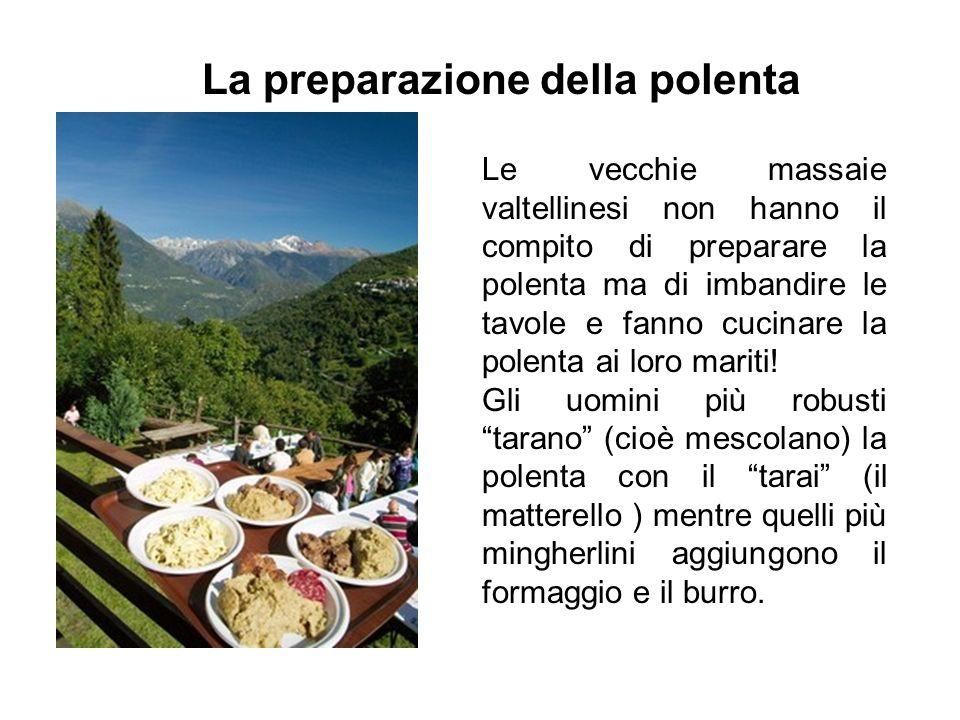 La preparazione della polenta