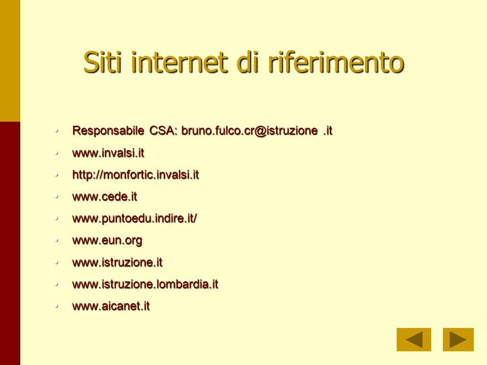 Siti internet di riferimento