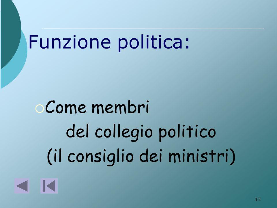 (il consiglio dei ministri)