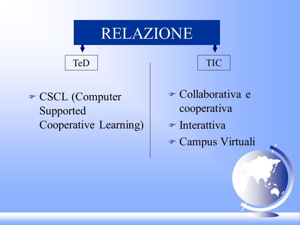 RELAZIONE Collaborativa e cooperativa