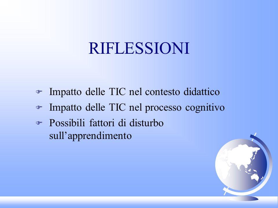 RIFLESSIONI Impatto delle TIC nel contesto didattico