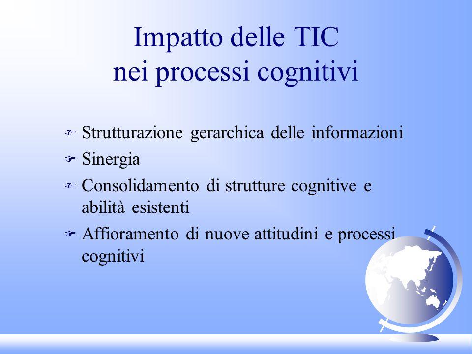 Impatto delle TIC nei processi cognitivi