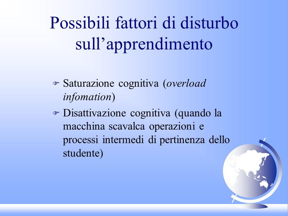 Possibili fattori di disturbo sull'apprendimento