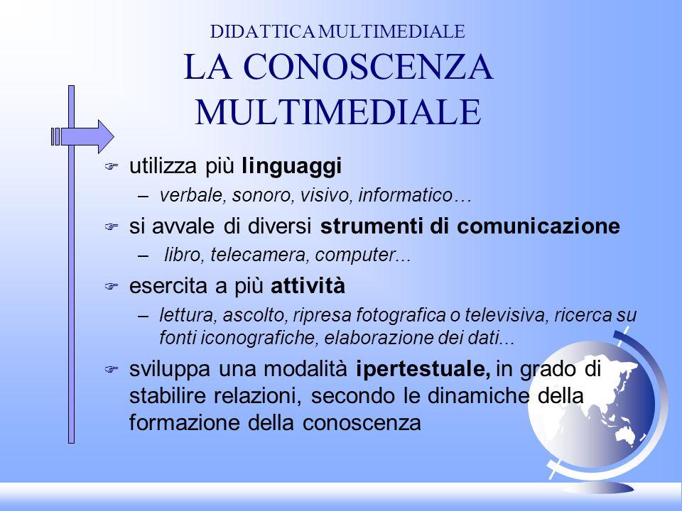DIDATTICA MULTIMEDIALE LA CONOSCENZA MULTIMEDIALE