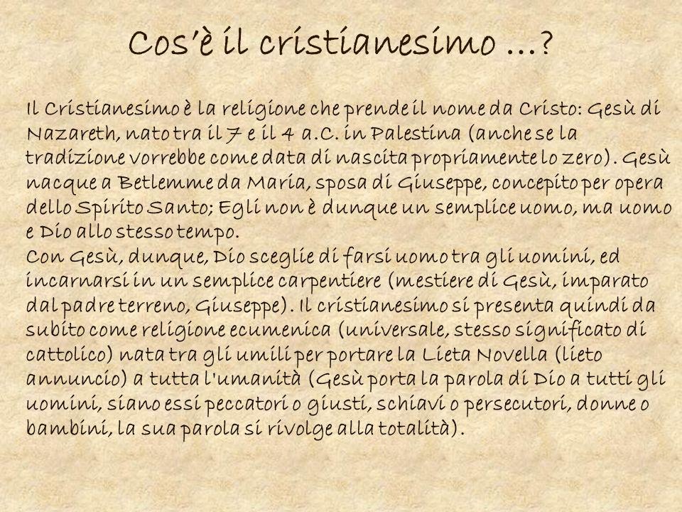 Cos'è il cristianesimo …