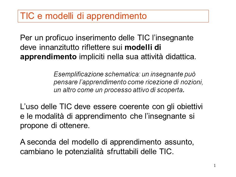 TIC e modelli di apprendimento