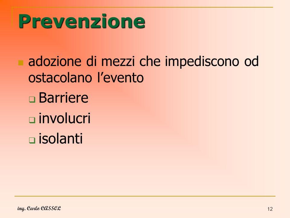 Prevenzione Barriere involucri isolanti