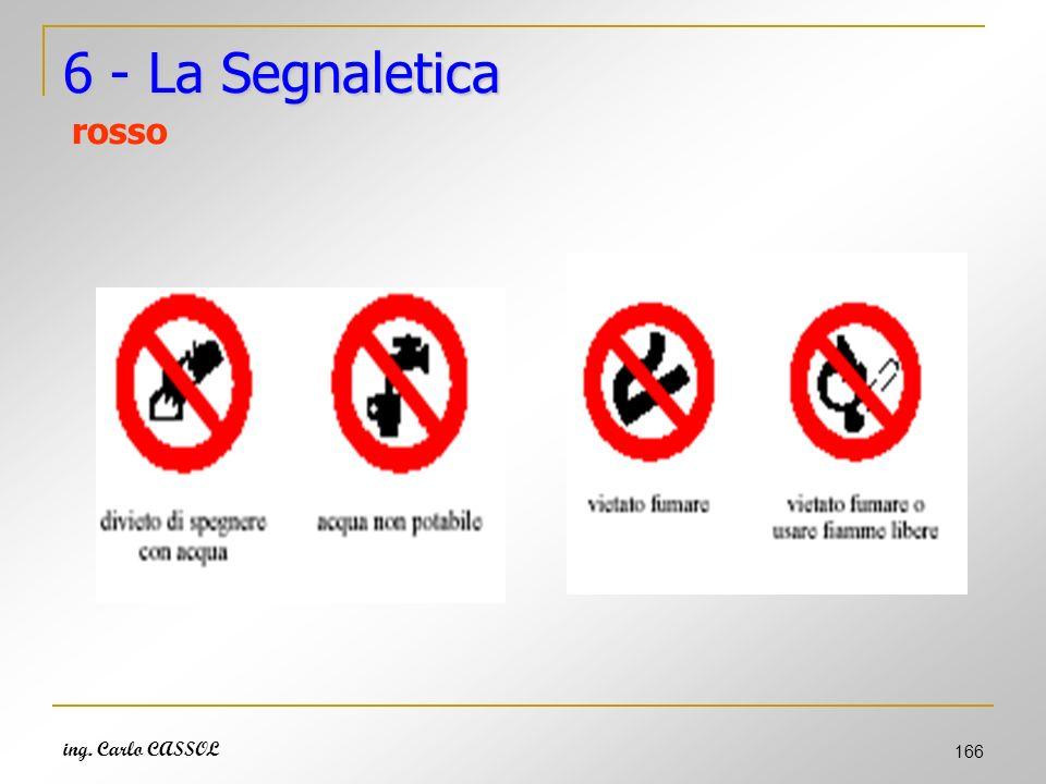 6 - La Segnaletica rosso ing. Carlo CASSOL