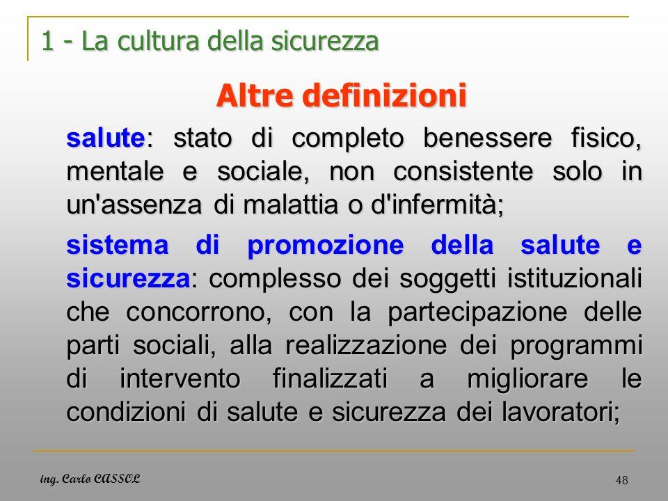 1 - La cultura della sicurezza