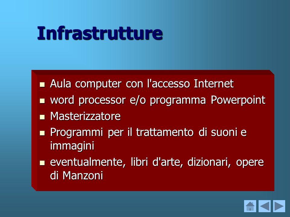 Infrastrutture Aula computer con l accesso Internet