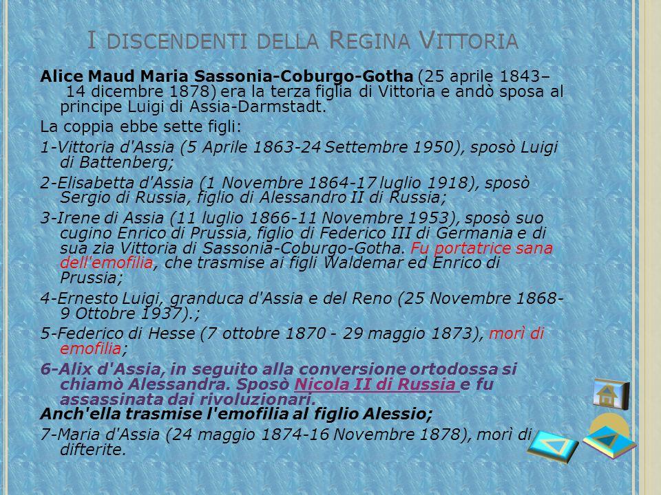 I discendenti della Regina Vittoria