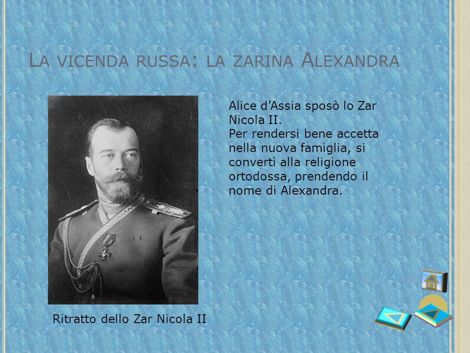 La vicenda russa: la zarina Alexandra