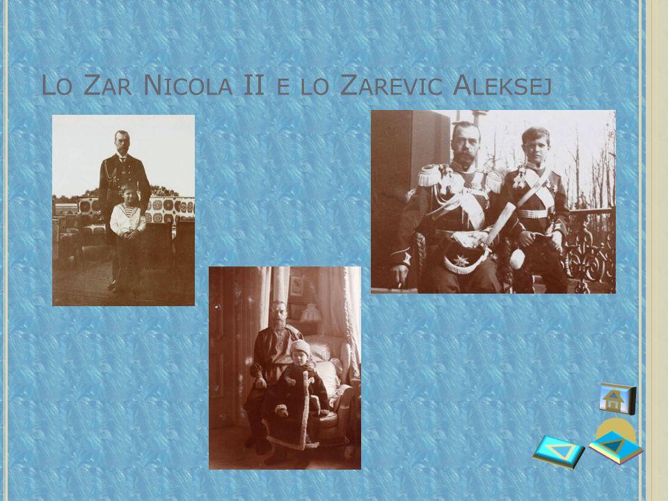 Lo Zar Nicola II e lo Zarevic Aleksej