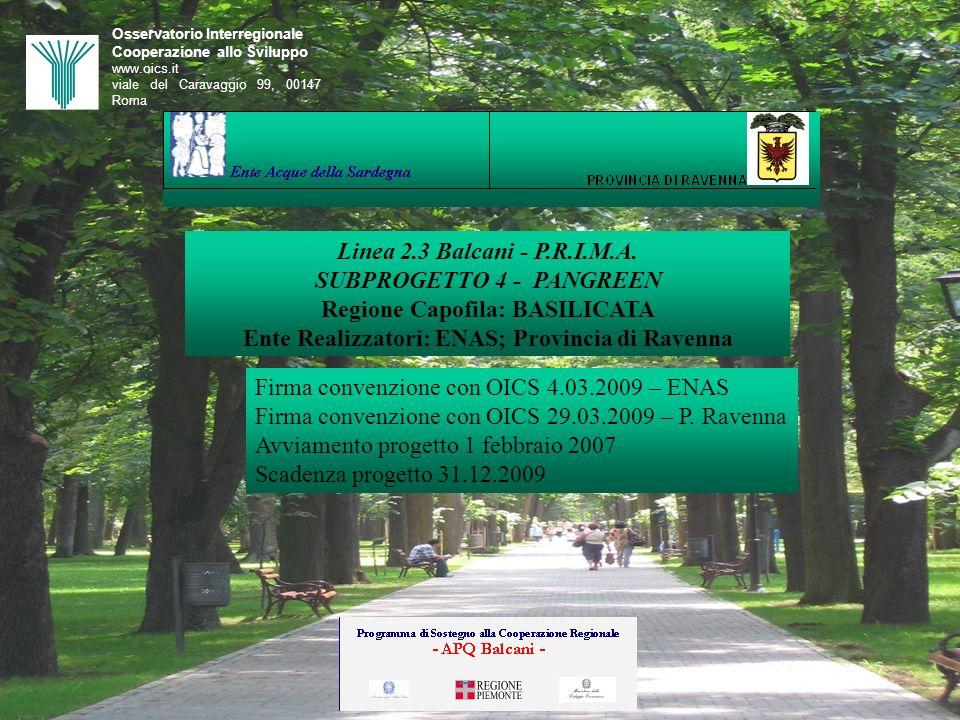 Ente Realizzatori: ENAS; Provincia di Ravenna