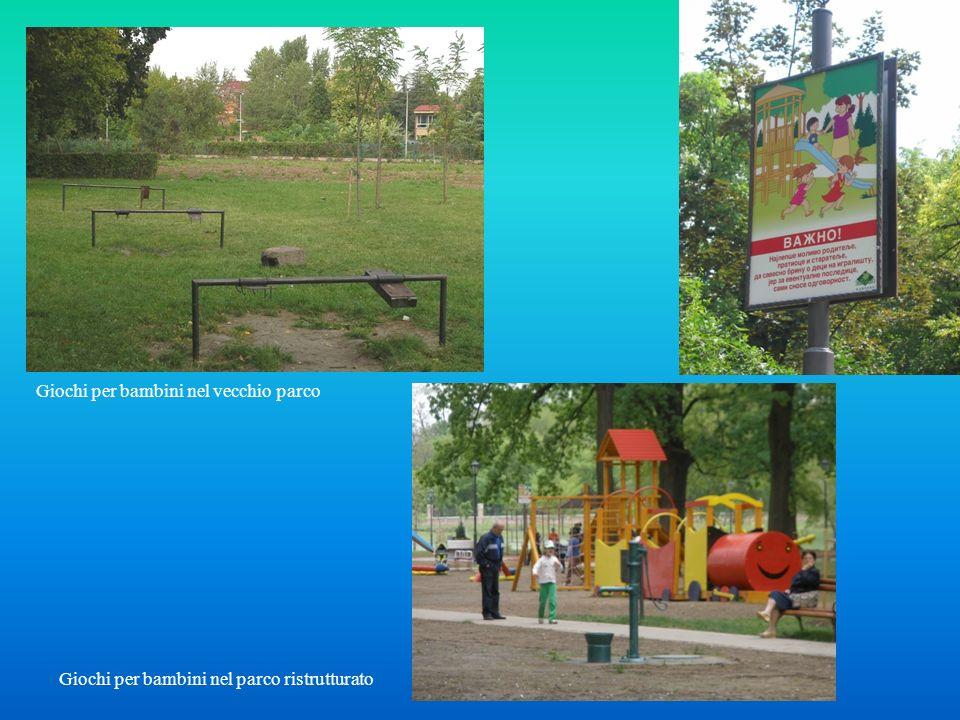 Giochi per bambini nel vecchio parco