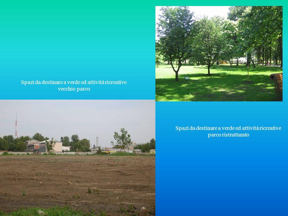 Spazi da destinare a verde ed attività ricreative vecchio parco