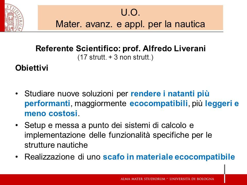U.O. Mater. avanz. e appl. per la nautica