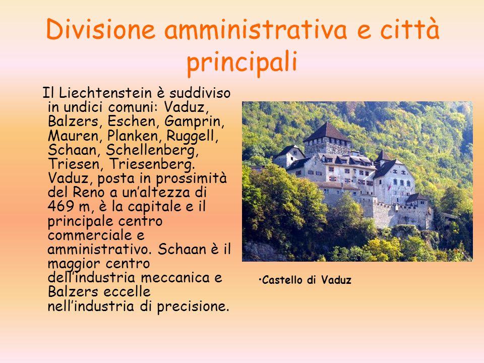 Divisione amministrativa e città principali