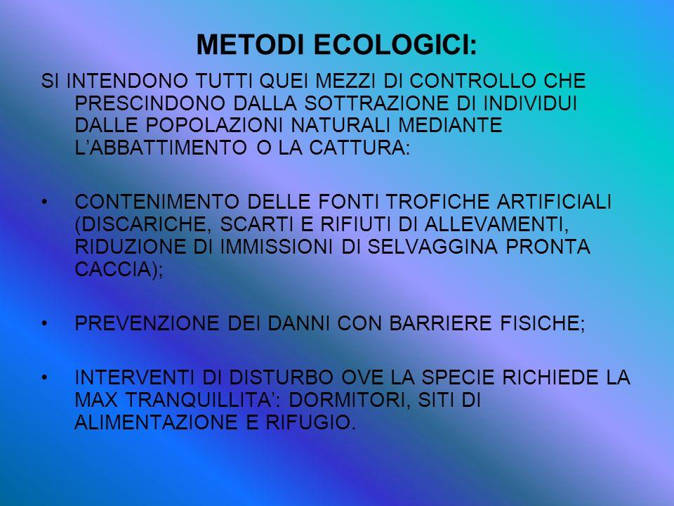 METODI ECOLOGICI: