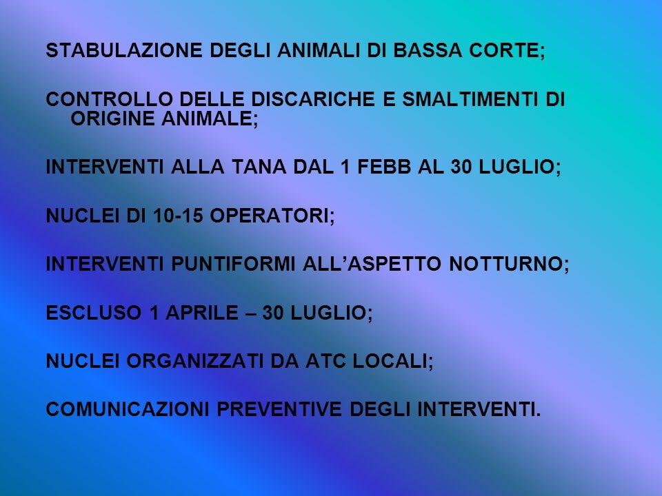 STABULAZIONE DEGLI ANIMALI DI BASSA CORTE;