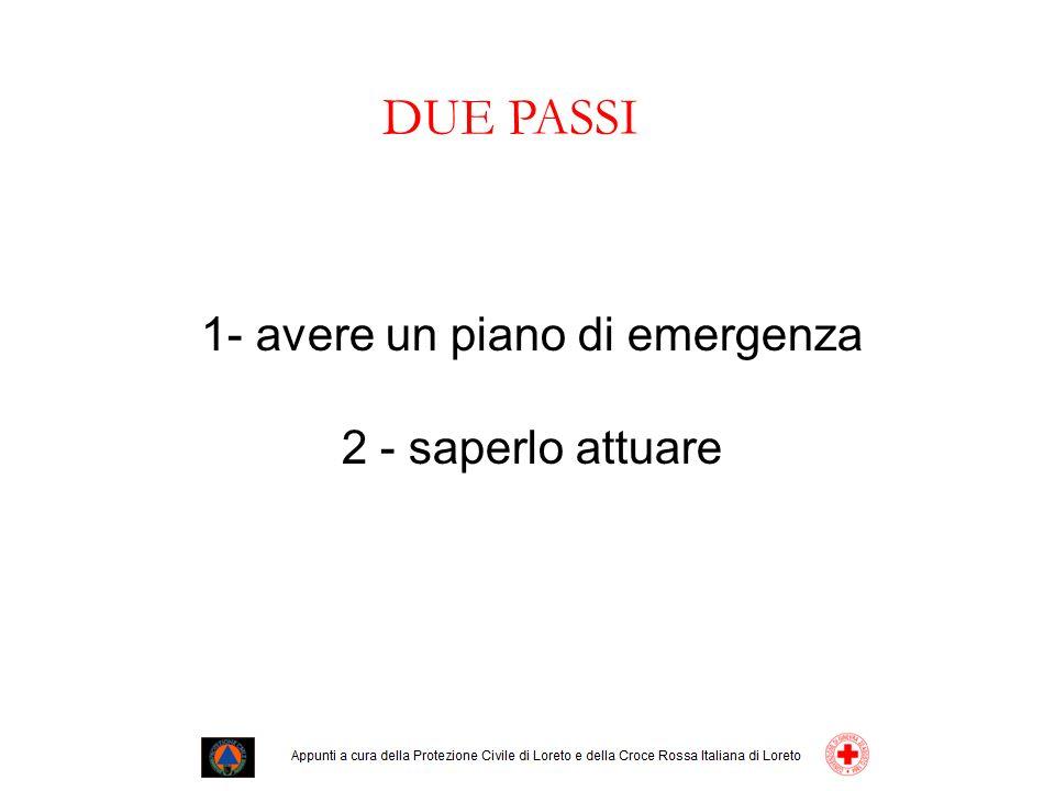 1- avere un piano di emergenza