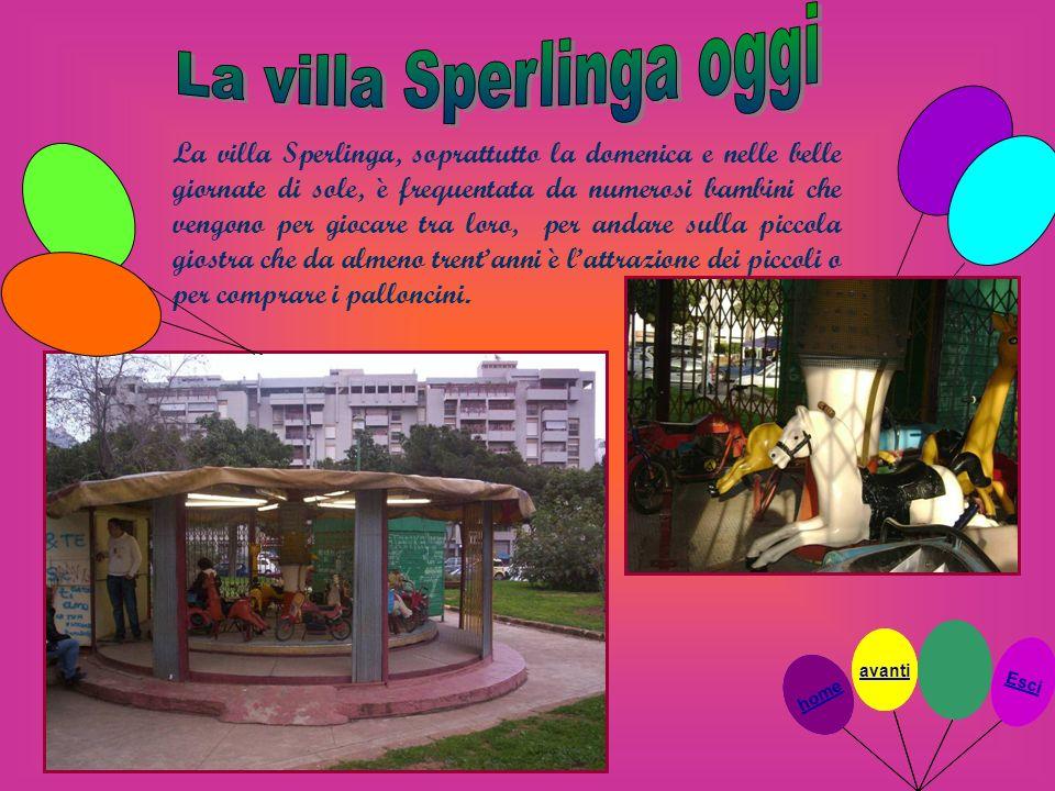 La villa Sperlinga oggi