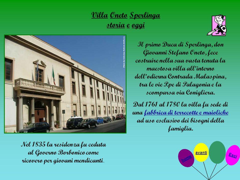 Villa Oneto Sperlinga storia e oggi