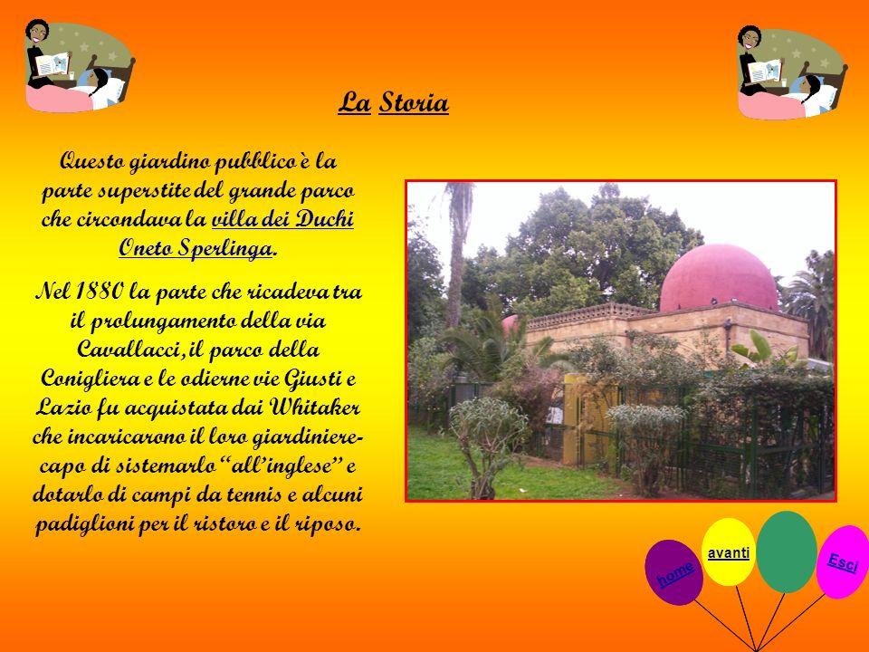 La Storia Questo giardino pubblico è la parte superstite del grande parco che circondava la villa dei Duchi Oneto Sperlinga.