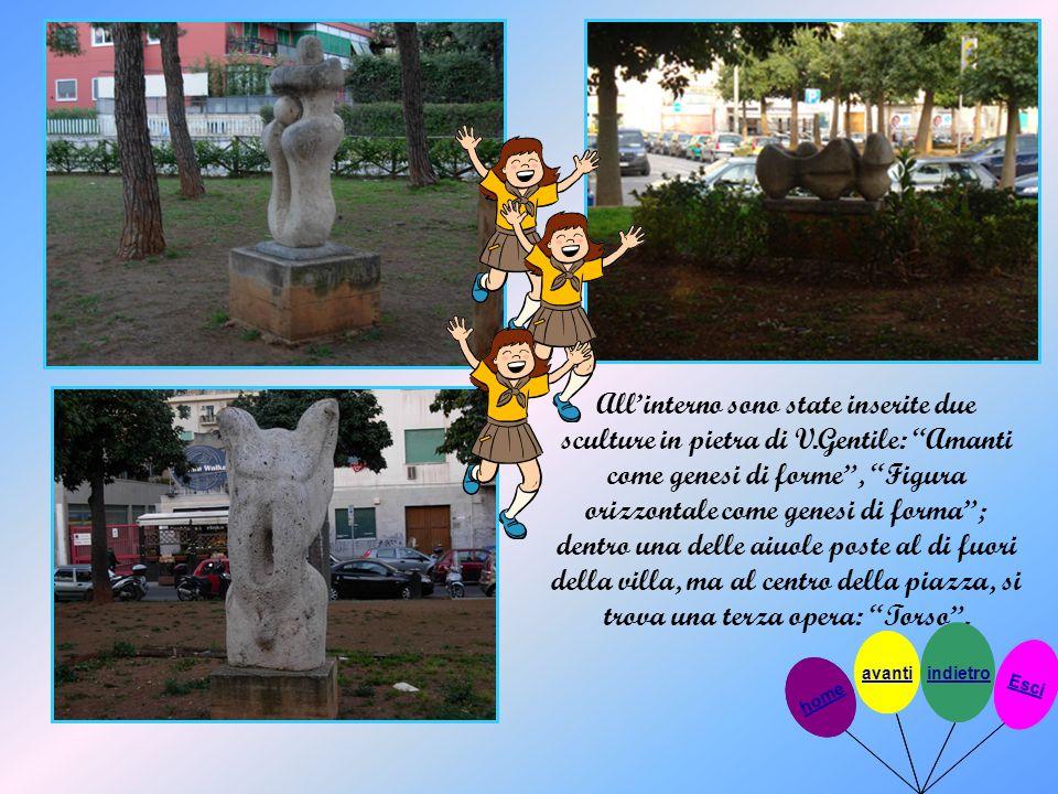 All'interno sono state inserite due sculture in pietra di V