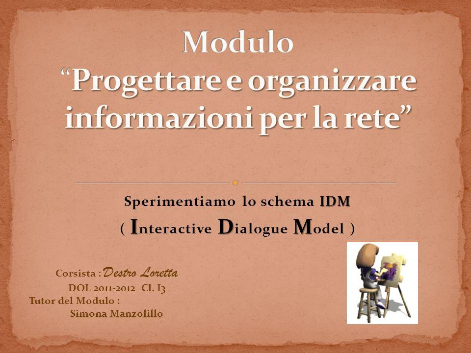 Modulo Progettare e organizzare informazioni per la rete