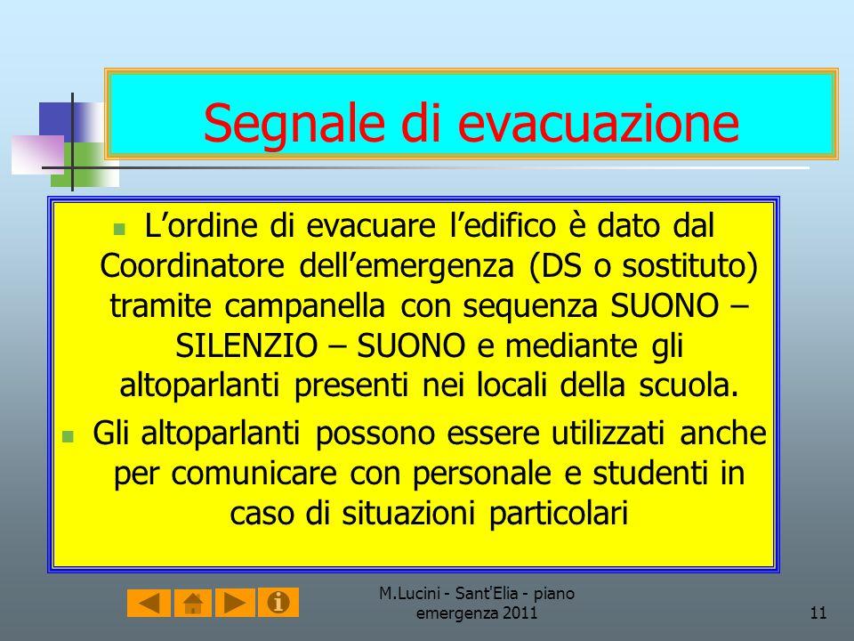 Segnale di evacuazione