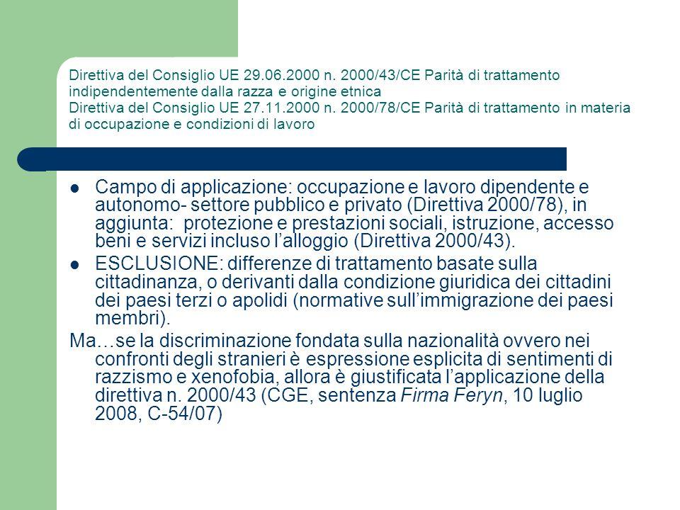 Direttiva del Consiglio UE 29. 06. 2000 n