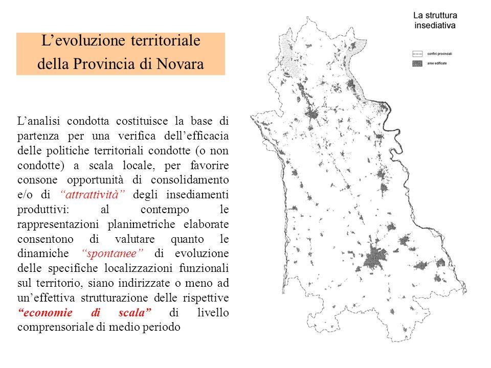 L'evoluzione territoriale della Provincia di Novara