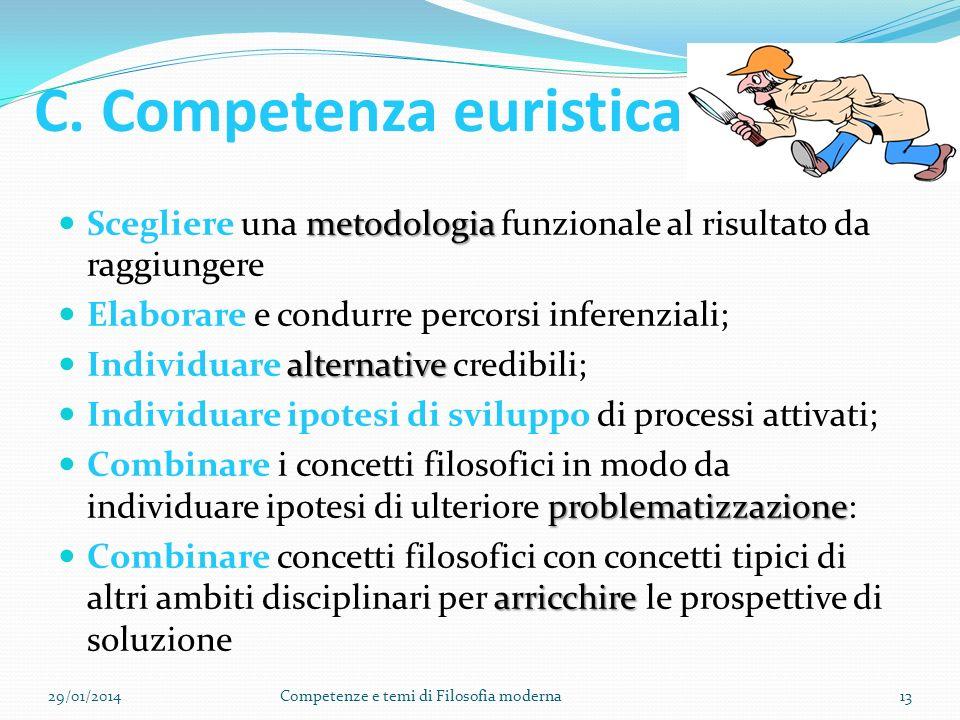 C. Competenza euristica