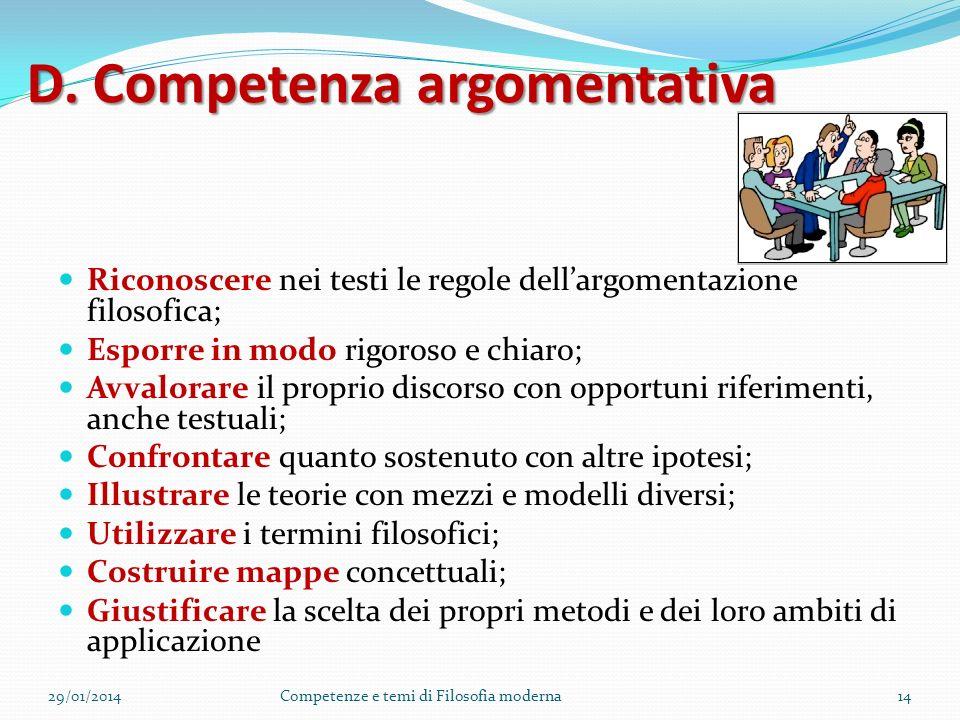 D. Competenza argomentativa