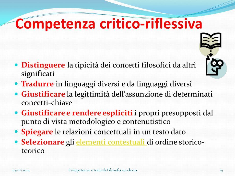 Competenza critico-riflessiva