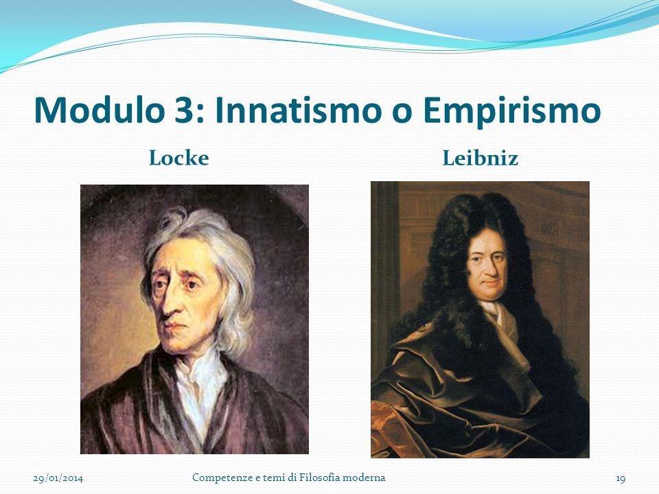 Modulo 3: Innatismo o Empirismo