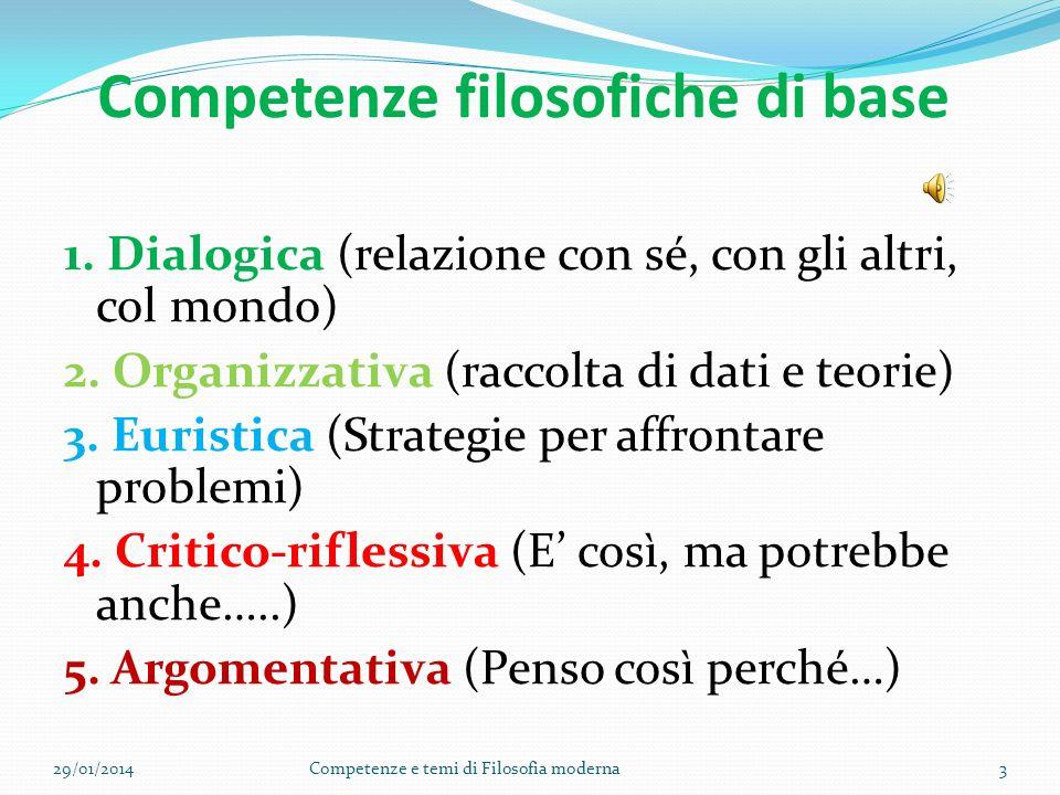 Competenze filosofiche di base