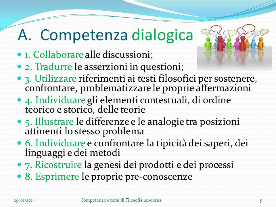 A. Competenza dialogica