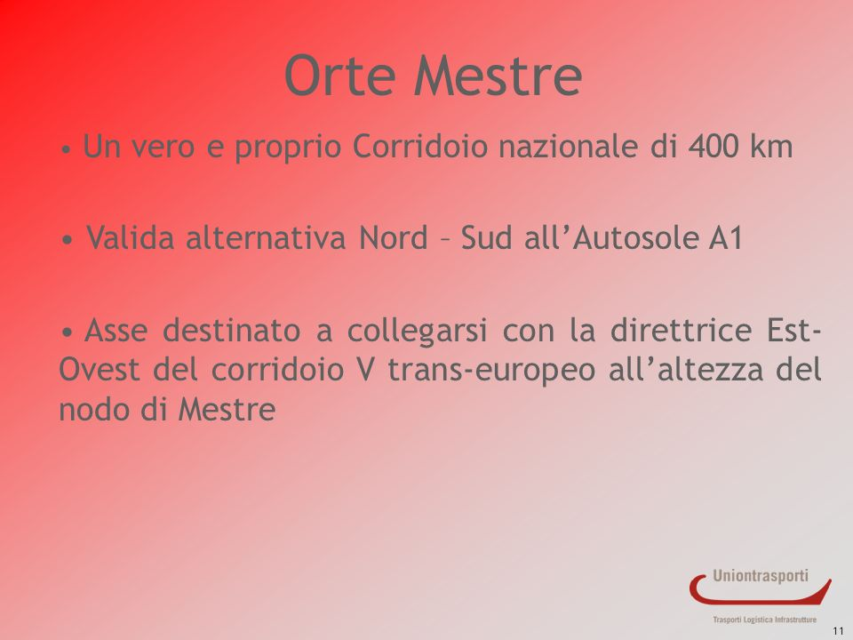 Orte Mestre Valida alternativa Nord – Sud all'Autosole A1