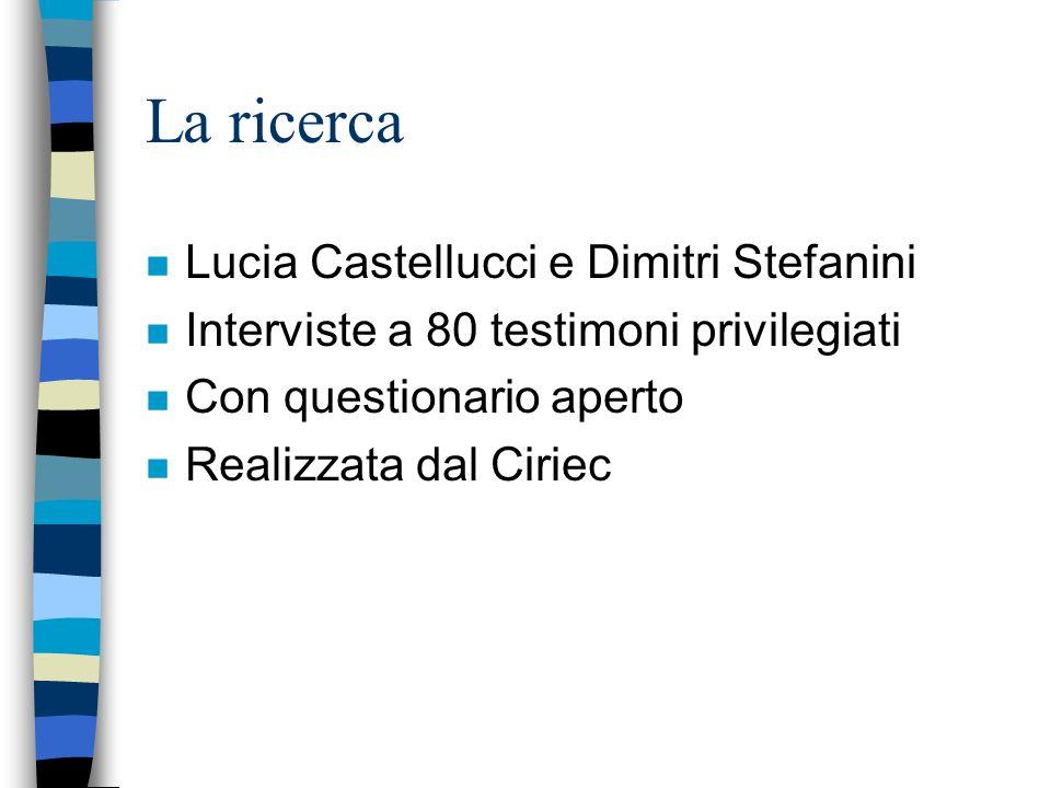 La ricerca Lucia Castellucci e Dimitri Stefanini