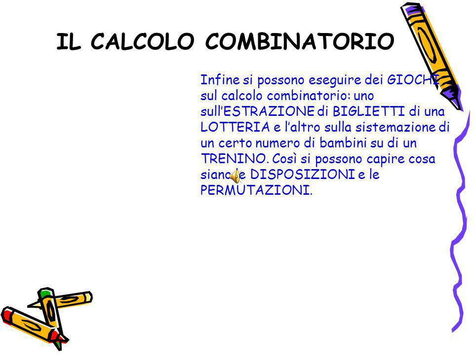 IL CALCOLO COMBINATORIO