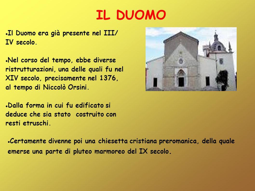 IL DUOMO your text Il Duomo era già presente nel III/ IV secolo.