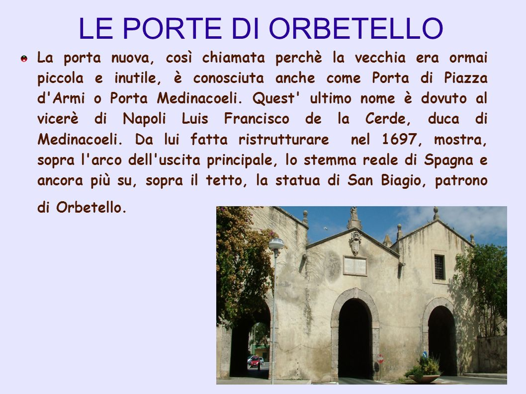LE PORTE DI ORBETELLO